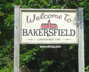 Bakersfield Vermont is just east of St. Albans