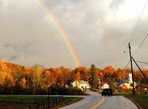 A double rainbow over Peru, VT 2014