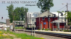 AMTRAK train station in St. Albans, VT