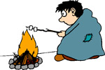 Never leave a fire unattended!, Vermont Camp and Fire Safety