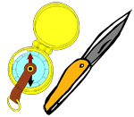 Bring emergency gear such as a compass, map, knife, and first aid kit.