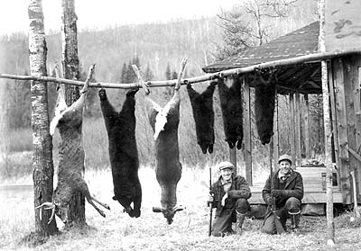 Vermont hunters, Vermont hunting camp, Vermont hunting photo
