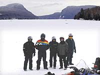 VAST network snowmobile trails are travelled on the Northeast Kingdom Snowmobile Tours from the Wildflower Inn