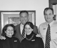 Green Mountain Innkeepers Patti Clark, Vermont Governor Shumlin, GM Ken Biederman