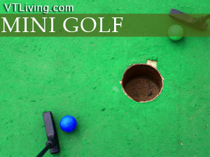 VT mini golf courses, mini-golf, vermont mini-golf locations