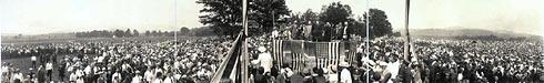Charles Lindberg visits Springfield Vermont