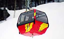 Killington Skye lift skiing skiers at Killington Mountain Resort
