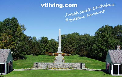 Joseph Smith Mormon Founder memorial vermont historic landmark