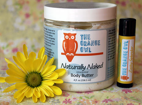 Vermont made Orange Owl Body Butter