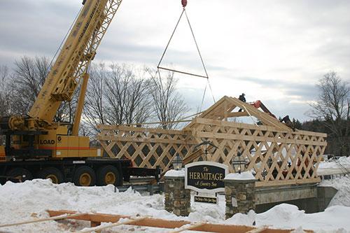 Rob Wadsworth Photo of The New VermontCoveredBridge at the Hermitage Inn WilmingtonVermont