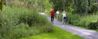 Stowe Recreation Trail paved bike path, Stowe, vermont attraction outdoor sports hiking biking
