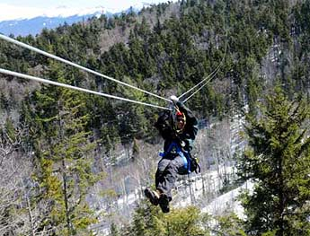 zip lines zip rides vermont canopy tours adventure sports