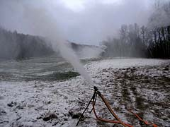 Snowmaking on Burke Mountain