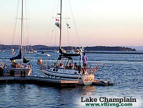 Boating on Lake Champlain - Vermont