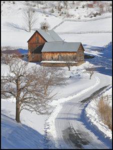 Vermont winter scene