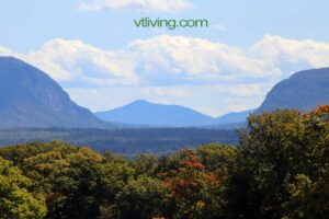 VT Fall Foliage Vacation view from Westmore Vermont